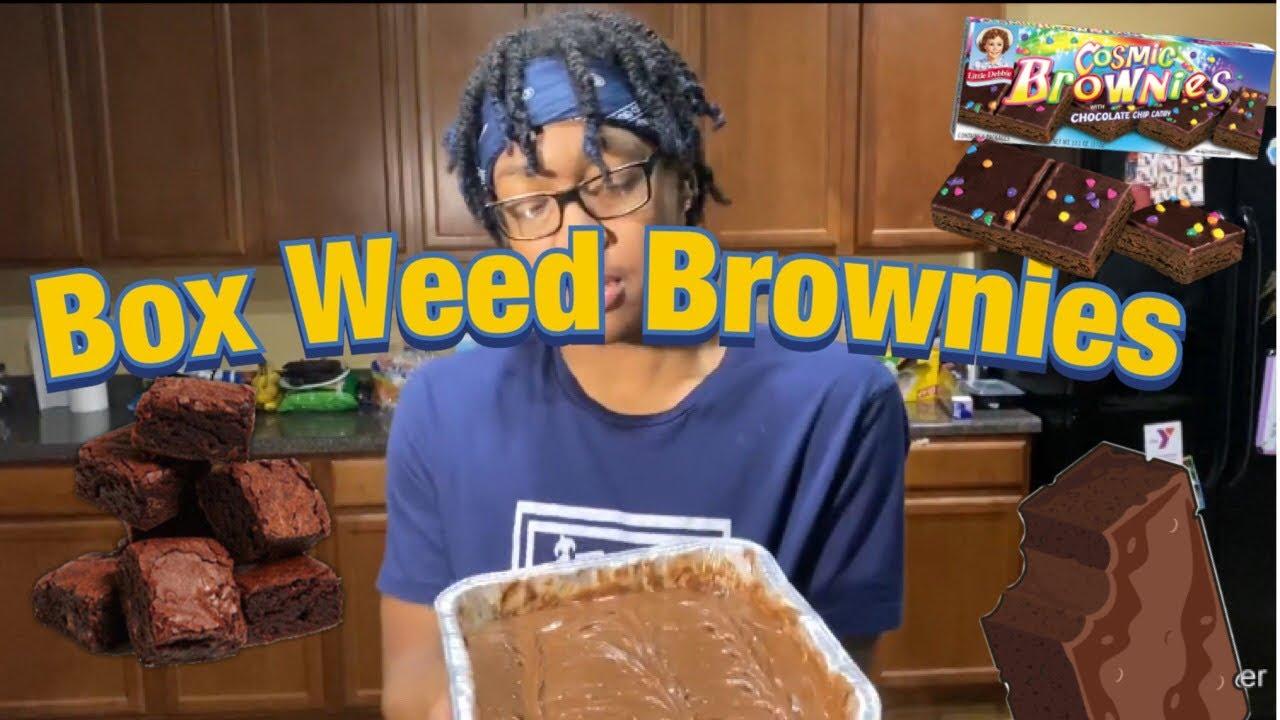 Making Box Weed Brownies 😳🍫