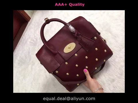 438b879741 Mulberry Cara Delevingne Bag with Rivets Oxblood - YouTube