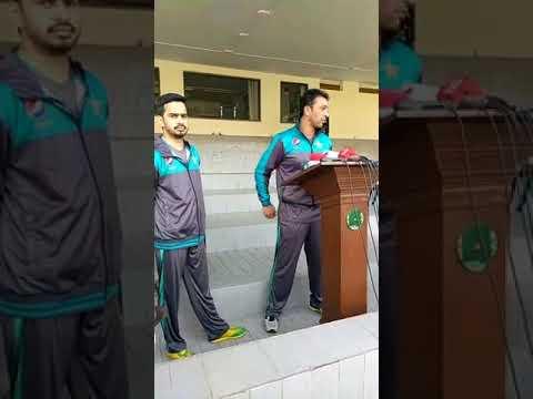 Bowling Coach Azhar Mehmood Talking To Media At Gaddafi Stadium Lahore
