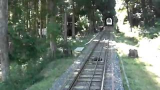 比叡山ケーブル 秘境駅ほうらい丘 背面 降り 通過