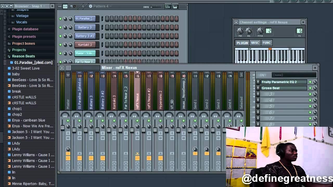 Fl Studio 10 Tutorial 7: How to make a sample beat - YouTube