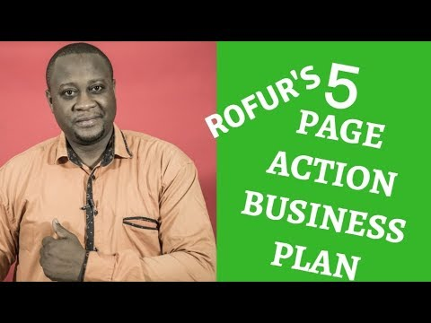 BUSINESS PLAN: HOW TO WRITE A 5 PAGE BUSINESS PLAN, BUSINESS PLAN PDF,BUSINESS PLAN EXAMPLE