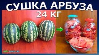 Сушка арбуза – 24 кг