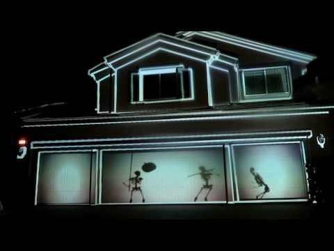 Our AtmosfearFX Halloween Digital Projections for 2016 || Projection Mapping Phantasms Bone Chillers