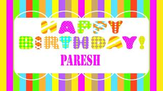 Paresh   Wishes & Mensajes - Happy Birthday