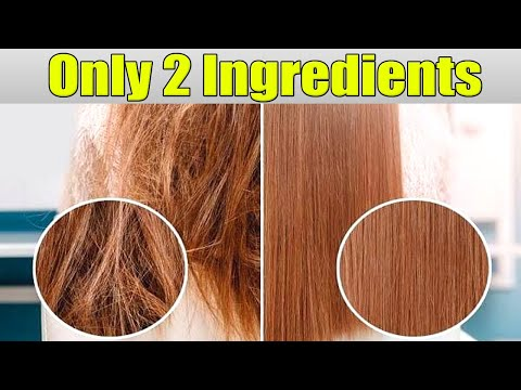 HOW I FIXED EXTREMELY DAMAGED HAIR! just Only 2 Ingredients Repair and Revitalize my Hair