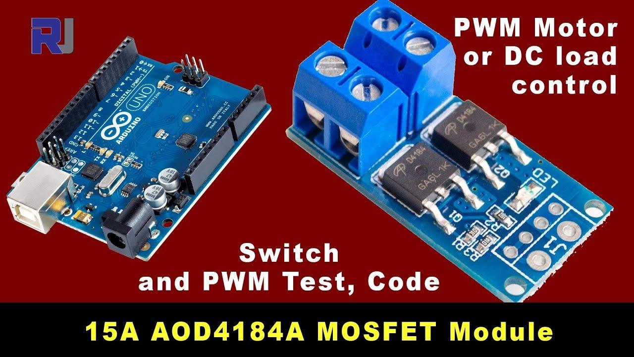 3V 5V Low Control High Voltage 12V 24V 36V E-switch Mosfet Module For Arduino NW