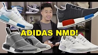 sneaker breakdown adidas nmd runner on foot