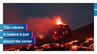 Iceland is just around the corner: Volcano   Icelandair
