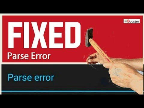 How to fix problem parase error or (describe error )