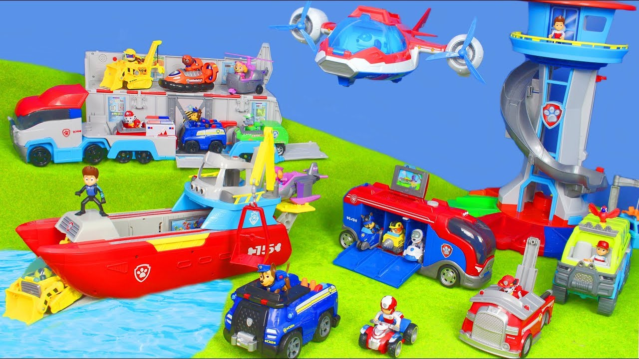 paw patrol unboxing chase  feuerwehrmann marshall