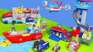 PAW PATROL Unboxing: Chase & Feuerwehrmann Marshall, Patroller & Lookout | Video für Kinder deutsch