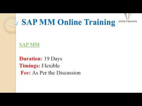 SAP MM Training Videos, SAP MM Course Content - YouTube