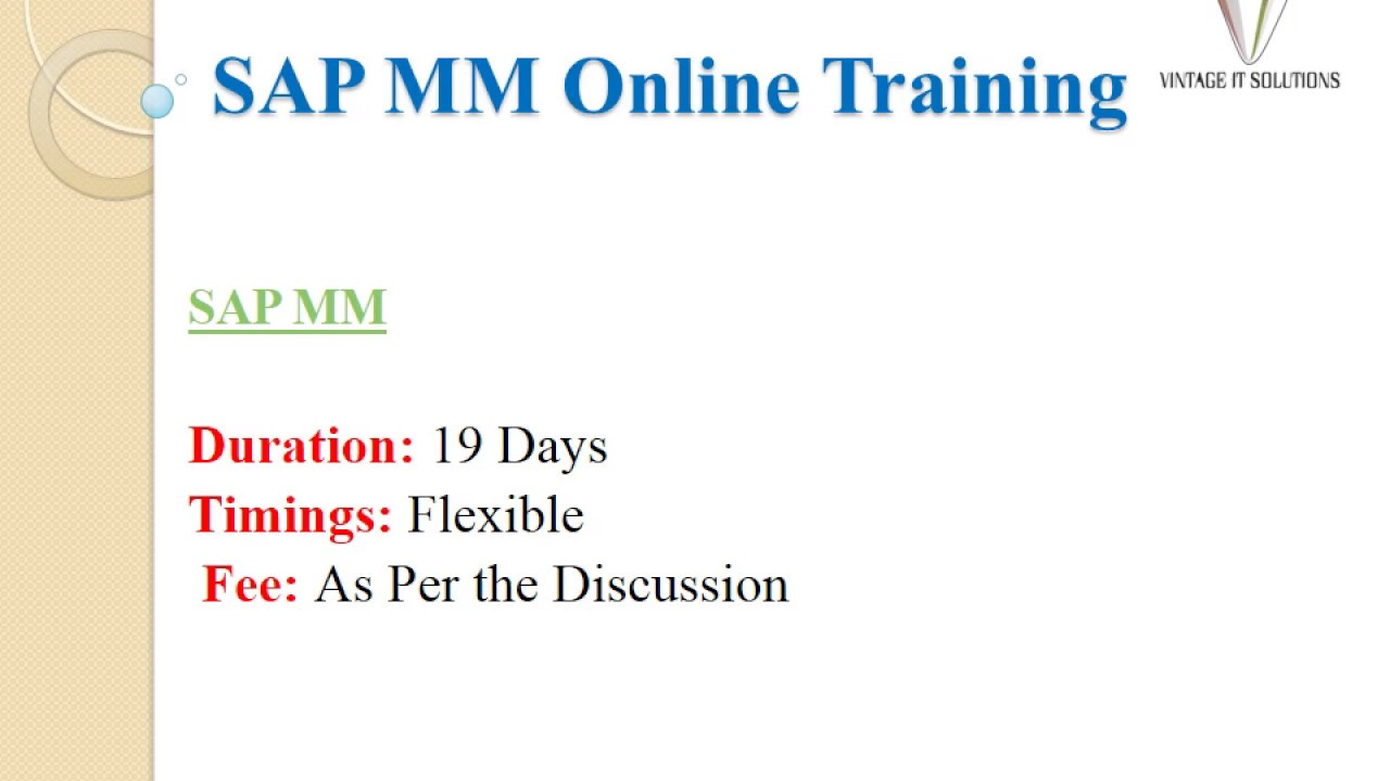 Sap mm training videos sap mm course content youtube sap mm training videos sap mm course content xflitez Image collections