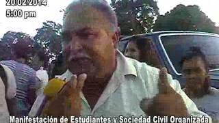 MANIFIESTAN ESTUDIANTES EN TUCUPITA 20/02/2014 5:00 PM