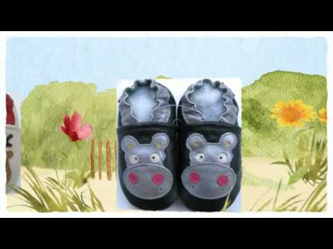 Free carozoo soft sole leather shoes for baby with clubfoot
