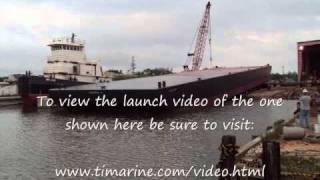 Construction And Launch Of A 140ft Hopper Barge From Www.timarine.com