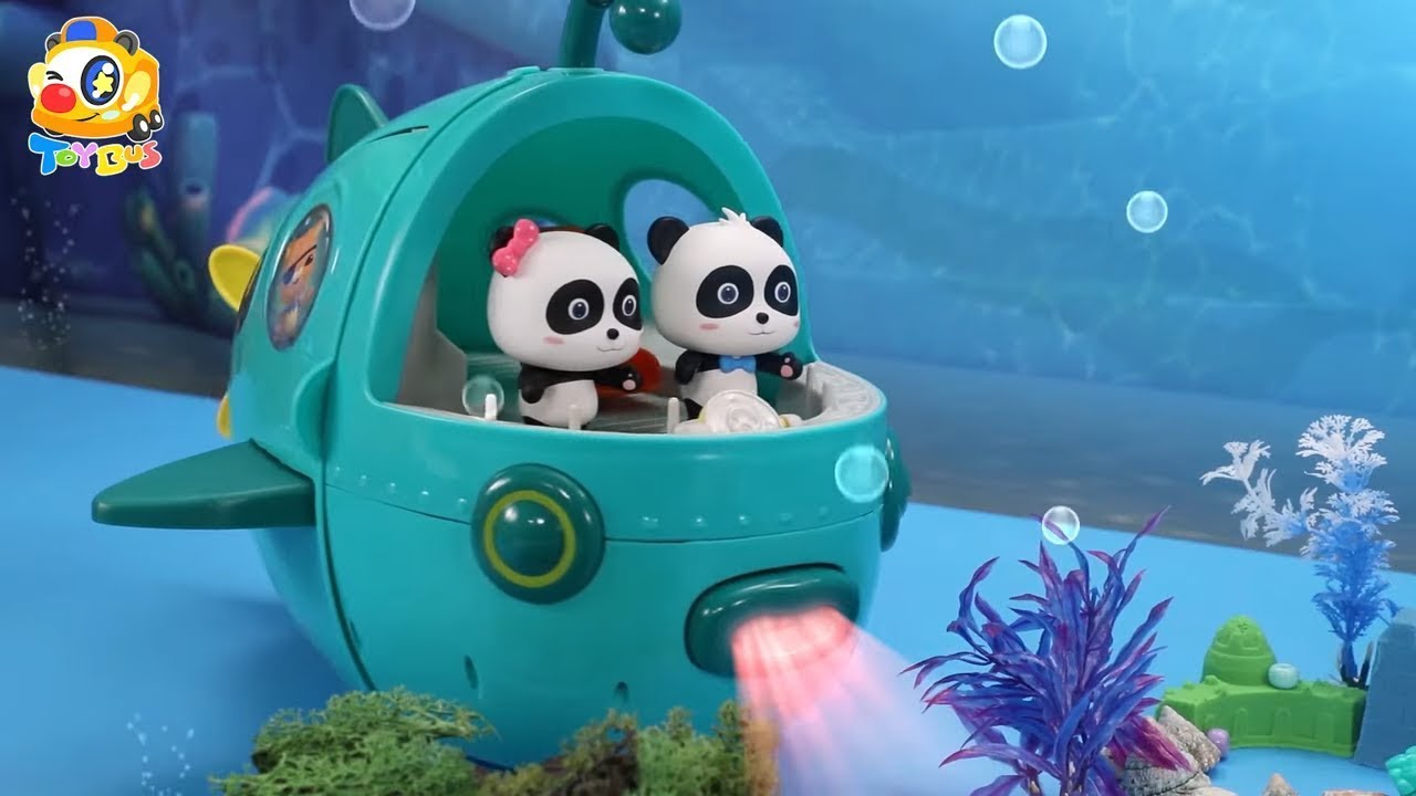 海探険隊 出動❤トイバス(ToyBus) キッズ おもちゃアニメ