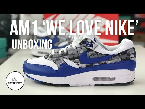 e3b3c45ef4 Nike x Atmos 'We love Nike' Air Max 1 Sneaker Unboxing with Mr B - YouTube