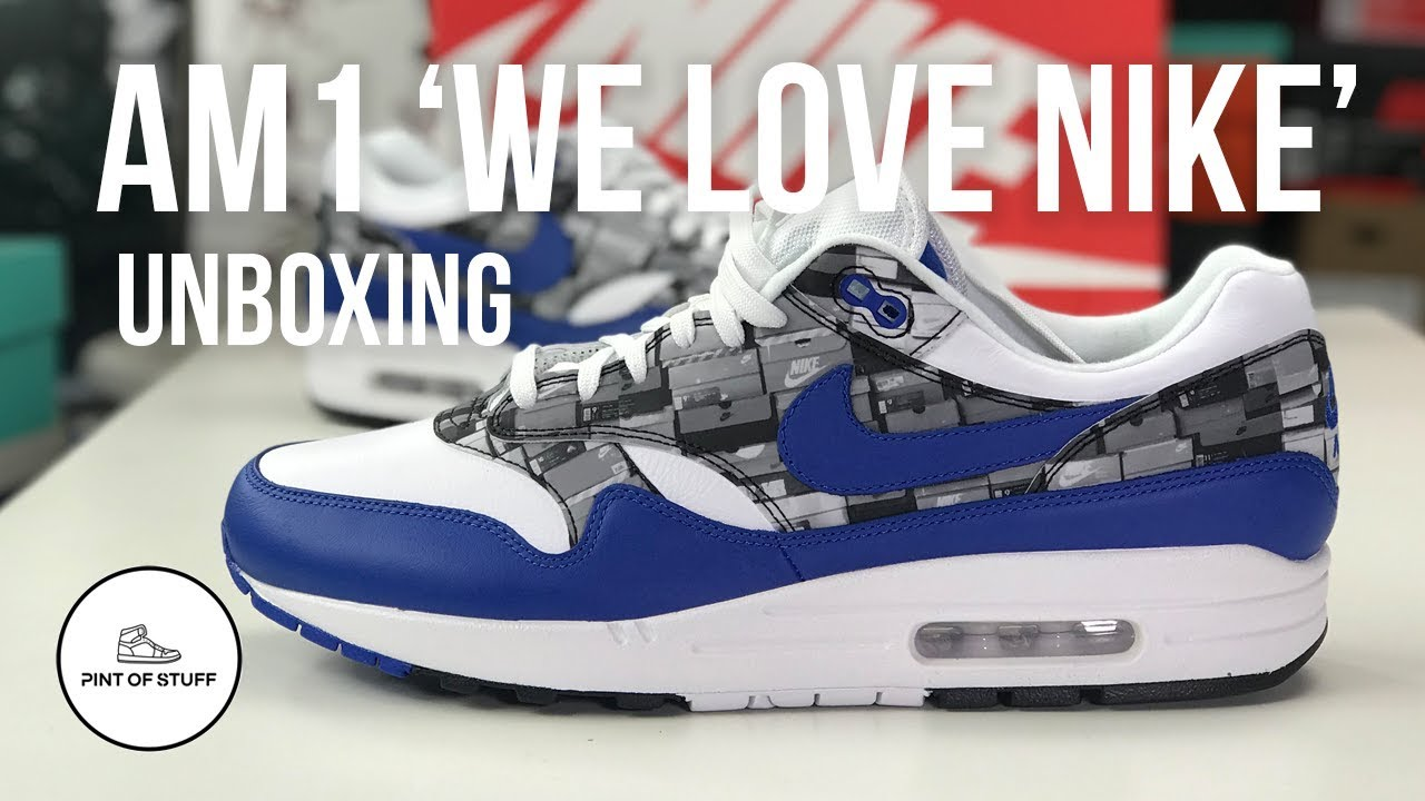 77ce240000 Nike x Atmos 'We love Nike' Air Max 1 Sneaker Unboxing with Mr B ...
