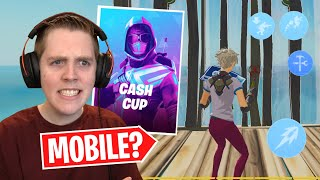 Using MOBILE Settings In A Cash Cup! - Fortnite Battle Royale
