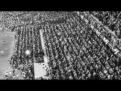 St. Louis Cardinals in game 4 beat Philadelphia Athletics in 1930 World Series...HD Stock Footage