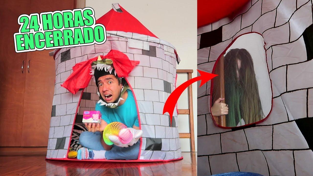 24 Horas en un Castillo Inflable *Sale un FANTASMA* - Juguetes vs Ami