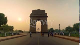 India Gate timelapse sunrise delhi | Sock Video | Stock Video | Qonvey