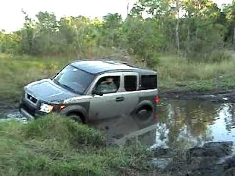 Honda Element Camper >> honda element stuck in the mud - YouTube