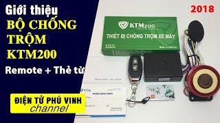 Bộ khóa chống trộm xe máy KTM200 remote và thẻ từ 2018