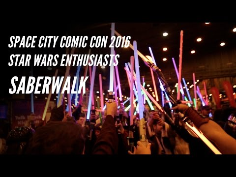 Cosplay SABERWALK Space City Comic Con 2016 with Star Wars Enthusiasts of Houston