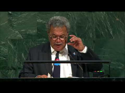 Tuvalu Support Self Determination for West Papua in UN Gener