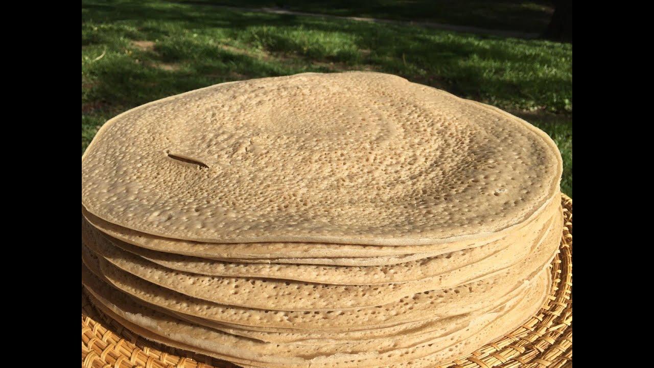 Ethiopian Food Bread Making White Injera Mass