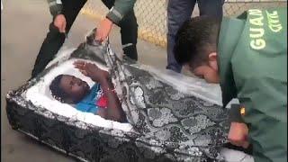 Spanish police discover migrants hidden in mattresses