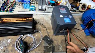 teste moteur triphasé DC/AC