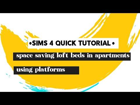 Sims 4 platform builds: Split level loft beds in apartments
