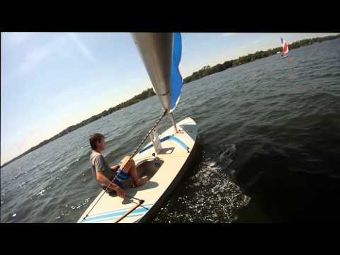 Go-Pro Sunfish Sailing