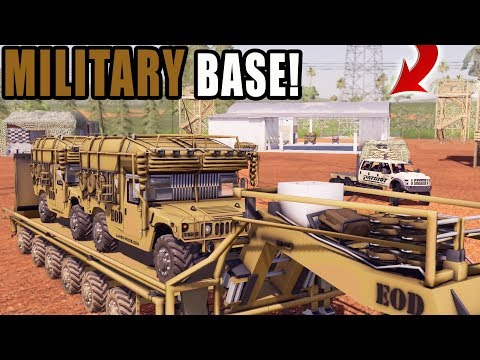 BUILDING MILITARY BASE ON FS19 | HUMVEE + TANKS | FARMING SIMULATOR 2019 thumbnail