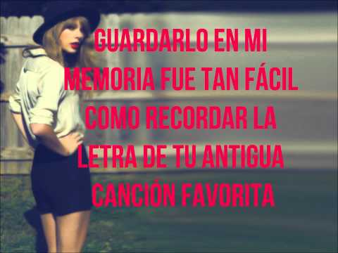 Red - Taylor Swift (Subtitulada al español)