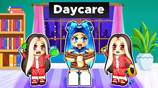 Taking care of TWINS in Roblox Daycare!