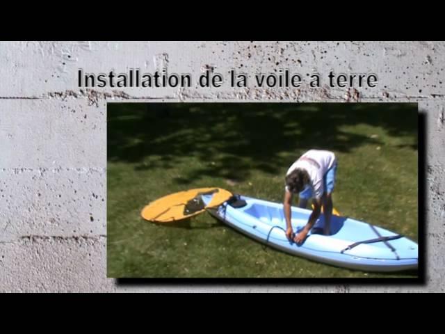 Instructions pour monter une voile sur un kayak Bicsport
