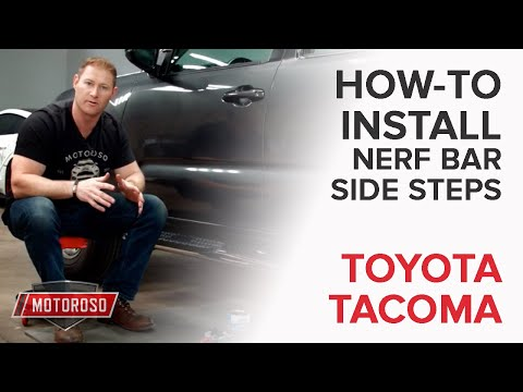 How to Install Side Step Nerf Bars on a Toyota Tacoma – Westin ProTraXX 21-22770 4in Oval Chrome