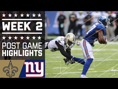 Saints vs. Giants | NFL Week 2 Game Highlights