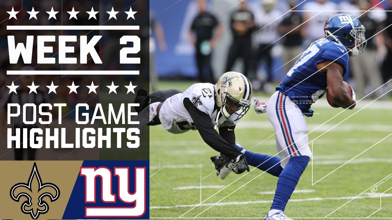 58b90283 Saints vs. Giants | NFL Week 2 Game Highlights