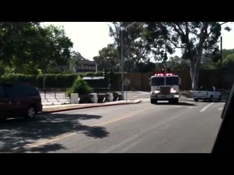 Santa Barbara County Fire Department's Engine 13 Responding