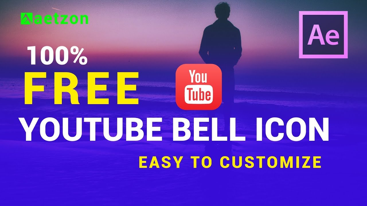 youtube bell icon intro template download - after effects youtube ...