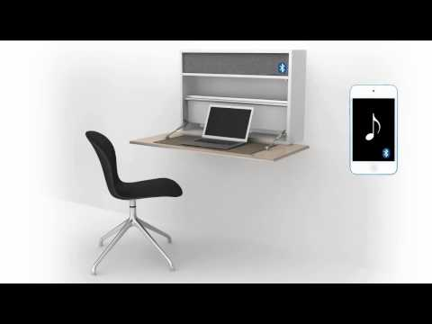 Cupertino Wall Office Desk 3D - BoConcept Furniture Store Sydney Australia