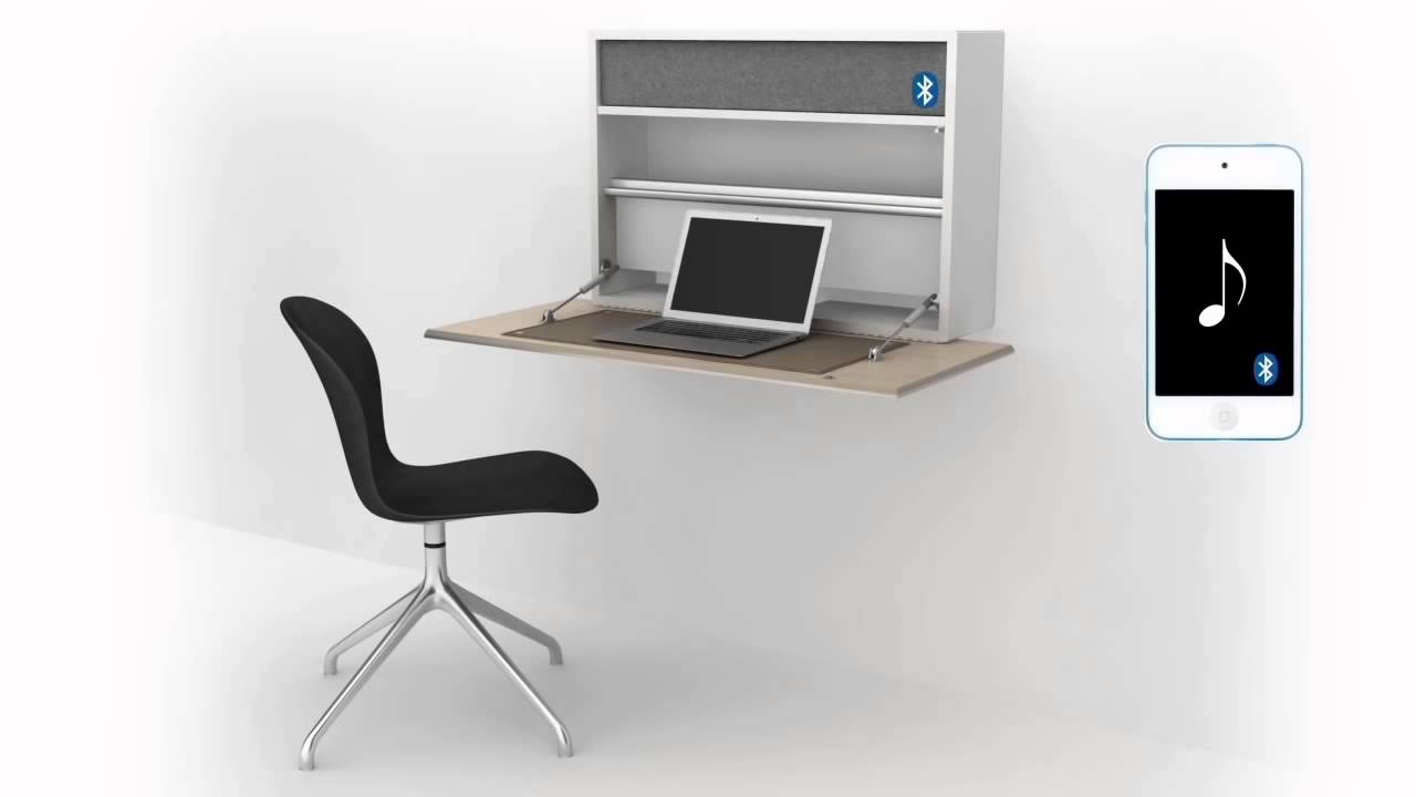 Cupertino Wall Office Desk 3D  BoConcept Furniture Store