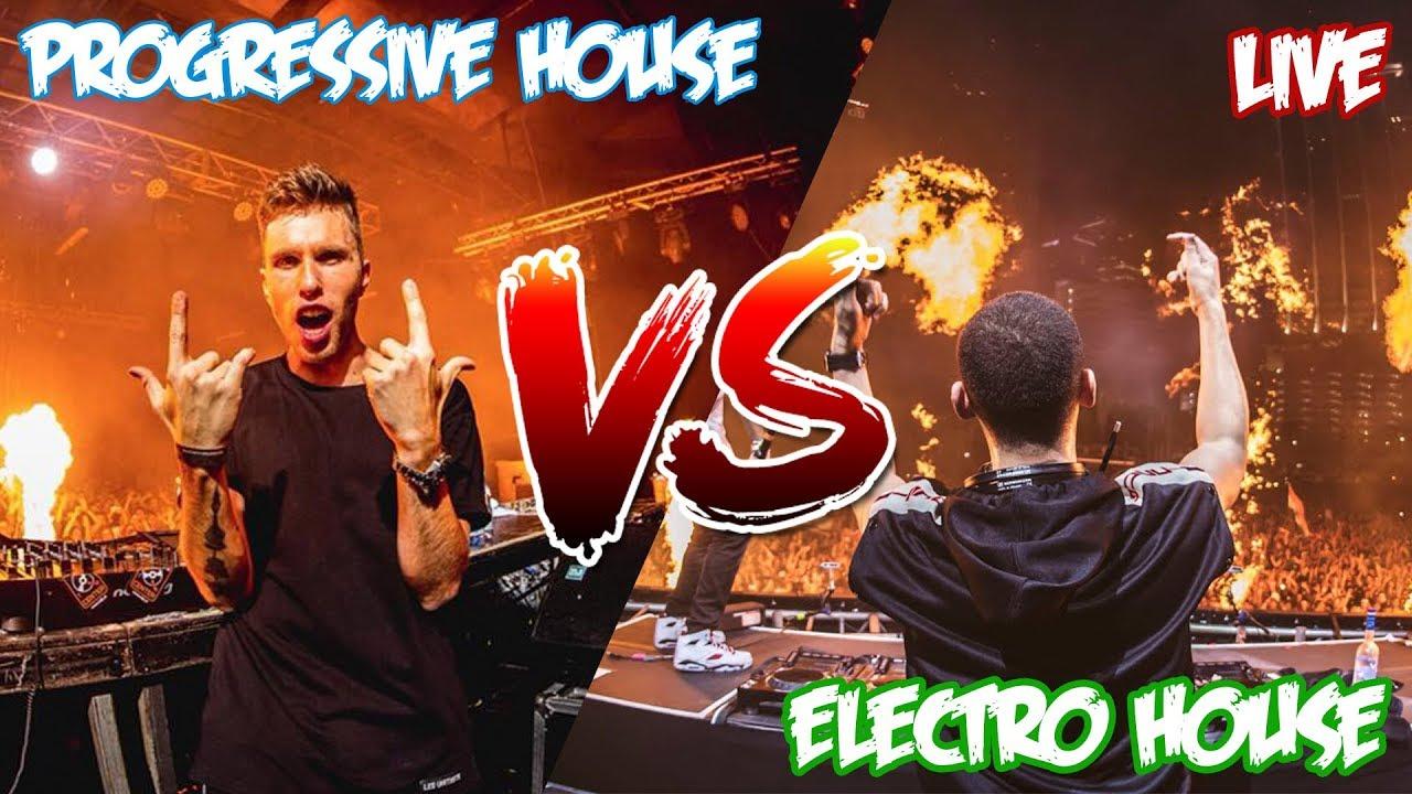 Progressive House Vs Electro House Live Duo Mix Youtube