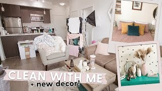 All Day Clean with Me & New Home Decor! Cleaning Motivation!